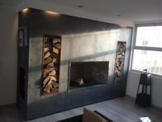 Double feu double foyer cheminée
